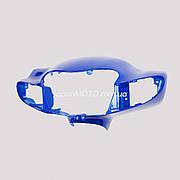 Голова (пластик фары) SUZUKI LETS 2 бабочка-3 (синяя)