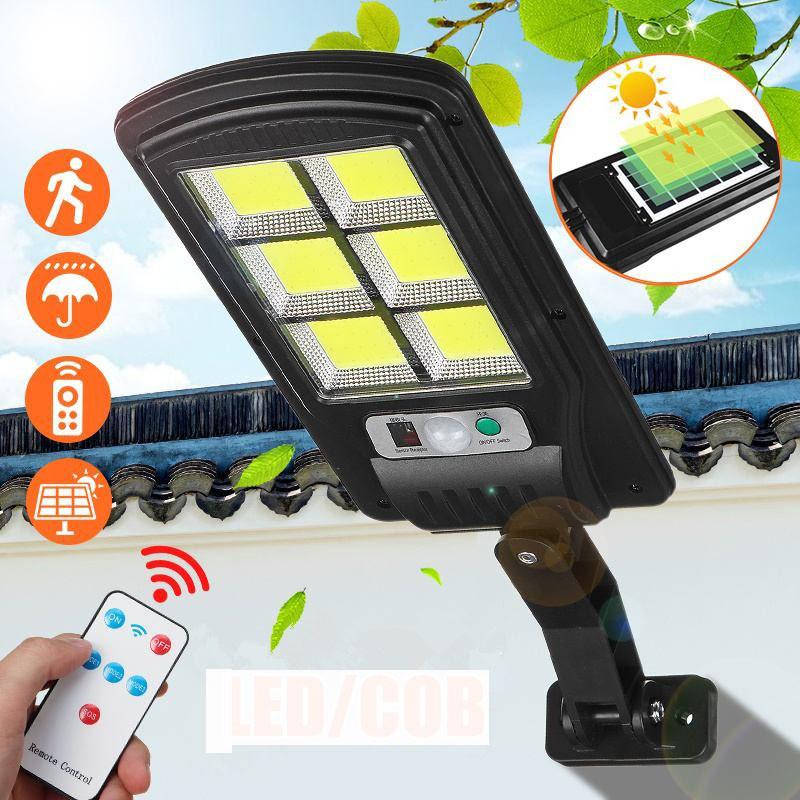 Уличный фонарь на столб solar street UKC light BL BK120-6COB с датчиком движения Черный