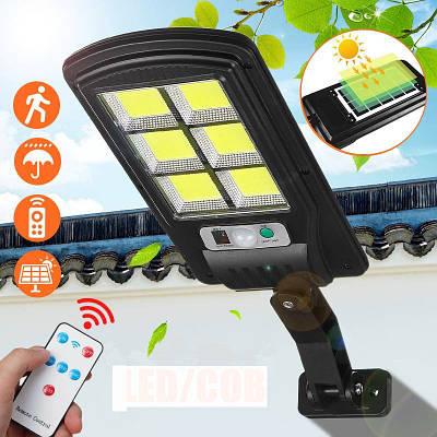 Вуличний ліхтар на стовп solar street UKC light BL BK120-6COB з датчиком руху Чорний