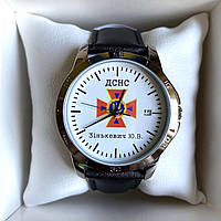 Часы наручные CASIO с логотипом ДСНС (Державна служба України з надзвичайних ситуацій), фото 1