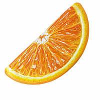 Пляжный надувной матрас Intex 58763 «Долька Апельсина», 178 х 85 см.