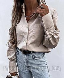 Модна сорочка жіноча з довгим рукавом