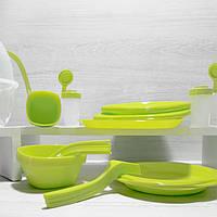 Багаторазовий пластиковий посуд для пікніка набір на 6 персон