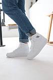 Кросівки жіночі Nike Air Jordan 1 Retro White Найк Аїр Джордан 1 Ретро Білі, фото 9