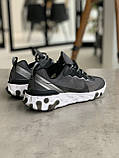 Кросівки чоловічі Nike react element Black White Найк Реактив Елемент чорно-білі, фото 4