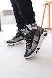 Кросівки чоловічі Nike react element Black White Найк Реактив Елемент чорно-білі, фото 9
