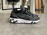 Кросівки чоловічі Nike react element Black White Найк Реактив Елемент чорно-білі, фото 10