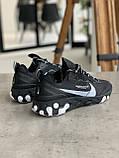Кроссовки мужские Nike react element Black Найк Реакт Элемент чёрные, фото 2