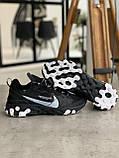 Кроссовки мужские Nike react element Black Найк Реакт Элемент чёрные, фото 3
