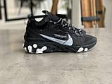 Кроссовки мужские Nike react element Black Найк Реакт Элемент чёрные, фото 10