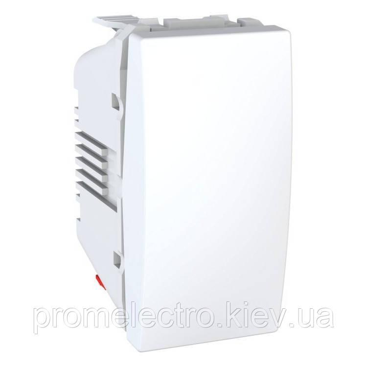Вимикач Schneider-Electric Unica 1-клав 1-мод білий (MGU3.101.18)