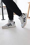 Кроссовки мужские Adidas Iniki White Адидас Иники Белые, фото 4
