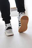 Кроссовки мужские Adidas Iniki White Адидас Иники Белые, фото 6