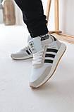 Кроссовки мужские Adidas Iniki White Адидас Иники Белые, фото 2