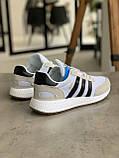 Кроссовки мужские Adidas Iniki White Адидас Иники Белые, фото 7