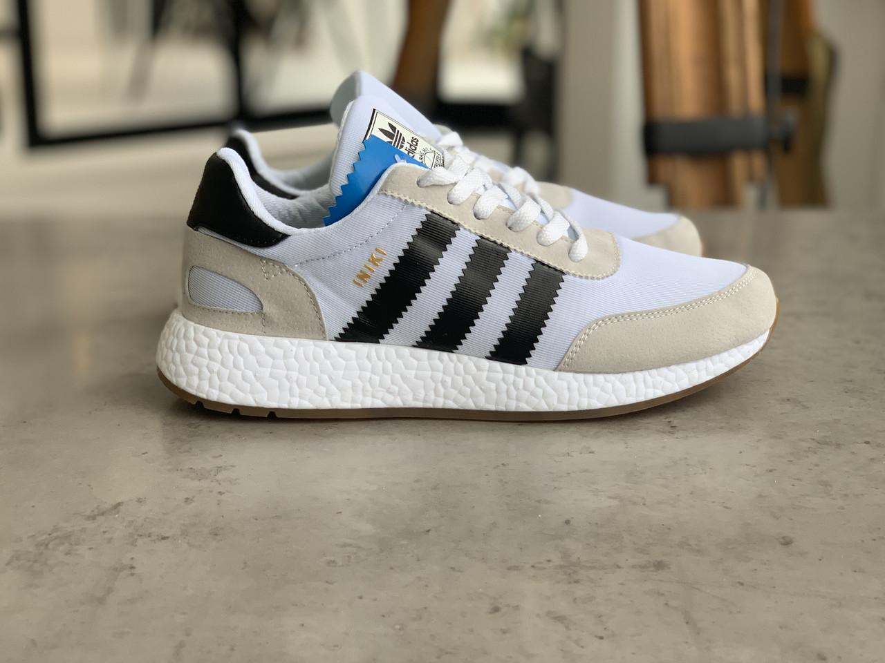 Кроссовки мужские Adidas Iniki White Адидас Иники Белые