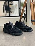 Кросівки чоловічі Adidas Yeezy 500 Utility Black Адідас Ізі 500 чорні репліка, фото 3