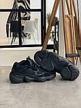 Кросівки чоловічі Adidas Yeezy 500 Utility Black Адідас Ізі 500 чорні репліка, фото 4
