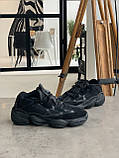 Кросівки чоловічі Adidas Yeezy 500 Utility Black Адідас Ізі 500 чорні репліка, фото 5