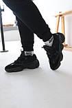 Кросівки чоловічі Adidas Yeezy 500 Utility Black Адідас Ізі 500 чорні репліка, фото 6