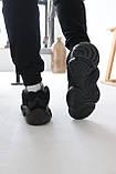 Кросівки чоловічі Adidas Yeezy 500 Utility Black Адідас Ізі 500 чорні репліка, фото 7