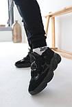 Кросівки чоловічі Adidas Yeezy 500 Utility Black Адідас Ізі 500 чорні репліка, фото 8