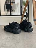 Кросівки чоловічі Adidas Yeezy 500 Utility Black Адідас Ізі 500 чорні репліка, фото 9