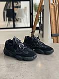 Кросівки чоловічі Adidas Yeezy 500 Utility Black Адідас Ізі 500 чорні репліка, фото 10