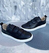 Черные туфли-слипоны мужские натуральная кожа с белой подошвой, размер от 40 до 45, фото 2
