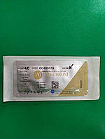 Шовний матеріал кетгут хромований N 4 з голкою 19 мм,Китай Catgut chrom 75 cм brown Шовный материал кетгут