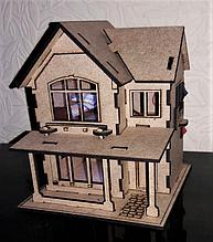 Кукольный домик с подсветкой + мебель в подарок!