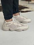 Кроссовки мужские Adidas Yeezy 500 Desert Rat Blush Адидас Изи 500  реплика, фото 3