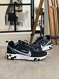 Кросівки Nike react element white logo Найк Реактив Елемент Білий логотип, фото 7