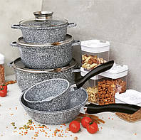 Набор кухонной посуды 10 предметов Edenberg EB-8012 Набор казанов (кастрюль) с гранитным покрытием