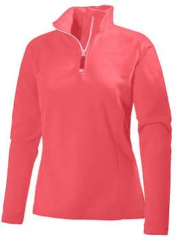 Жіноча флісова кофта кольору рожевий з коміром на змійці XS
