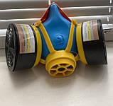 Респіратор пило-газо-захисний РУ-60М з фільтрами марки А1В1, фото 2