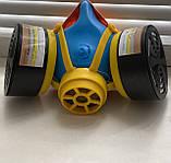 Респіратор пило-газо-захисний РУ-60М з фільтрами марки А1В1, фото 3