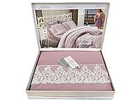 Комплект постельного белья Maison D'or Gloria Dark Lilac сатин 220-200 см сиреневый