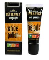 Крем для обуви BLYSKAVKA с аппликатором Темно-коричневый 50 мл