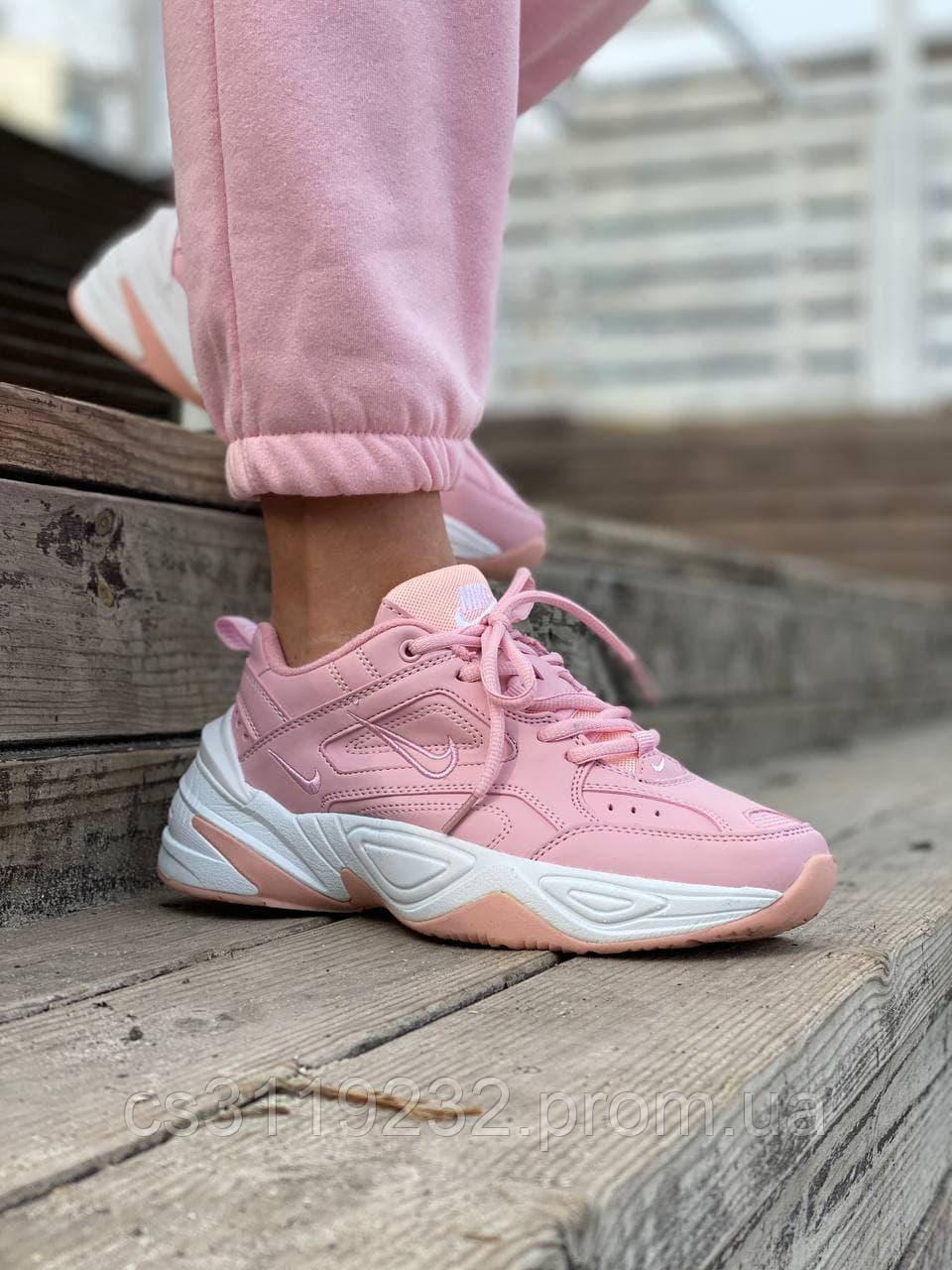 Женские кроссовки  Nike M2K Tekno Pink (розовые)