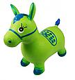 Надувна стрибун конячка гумова MS 0373, дитячий мікс кольорів. Навантаження до 50 кг Сіро-блакитний Т, фото 3