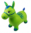 Надувная прыгун лошадка резиновая MS 0373, детская микс цветов. Нагрузка до 50 кг Серо-голубой Т, фото 3