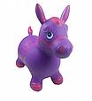 Надувна стрибун конячка гумова MS 0373, дитячий мікс кольорів. Навантаження до 50 кг Сіро-блакитний Т, фото 4