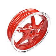 """Диск колеса задний (титановый) 10"""" HONDA DIO/TACT красный (22 шлица)"""