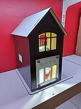 Кукольный домик для куклы Лол венге с подсветкой + Мебель в ПОДАРОК! 30см×23см