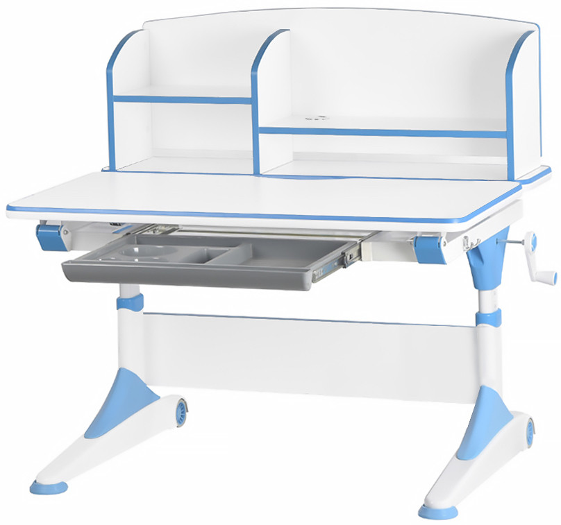 Детский стол Evo-Kids Alberto Blue (с полкой)