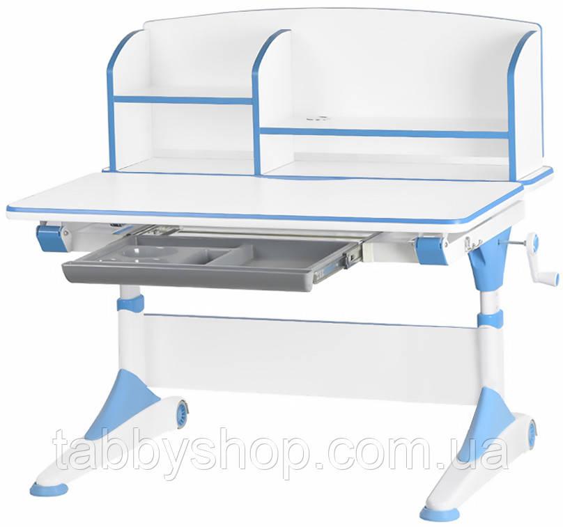 Дитячий стіл Evo-Kids Alberto Blue (з полицею)