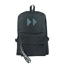 Рюкзак міський чорний з вставкою rewind