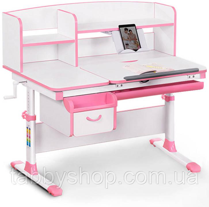 Детский стол Evo-kids Evo-50 PN Pink - столешница белая/пластик розовый