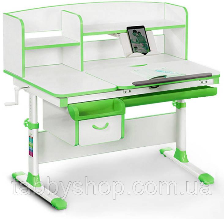 Дитячий стіл Evo-kids Evo-50 Z Green - стільниця білий/зелений пластик
